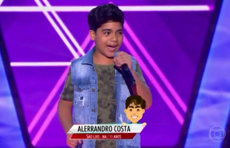"""Resultado de imagem para Varzealegrense Alerrandro Costa, está no """"The Voice Brasil Kids"""""""